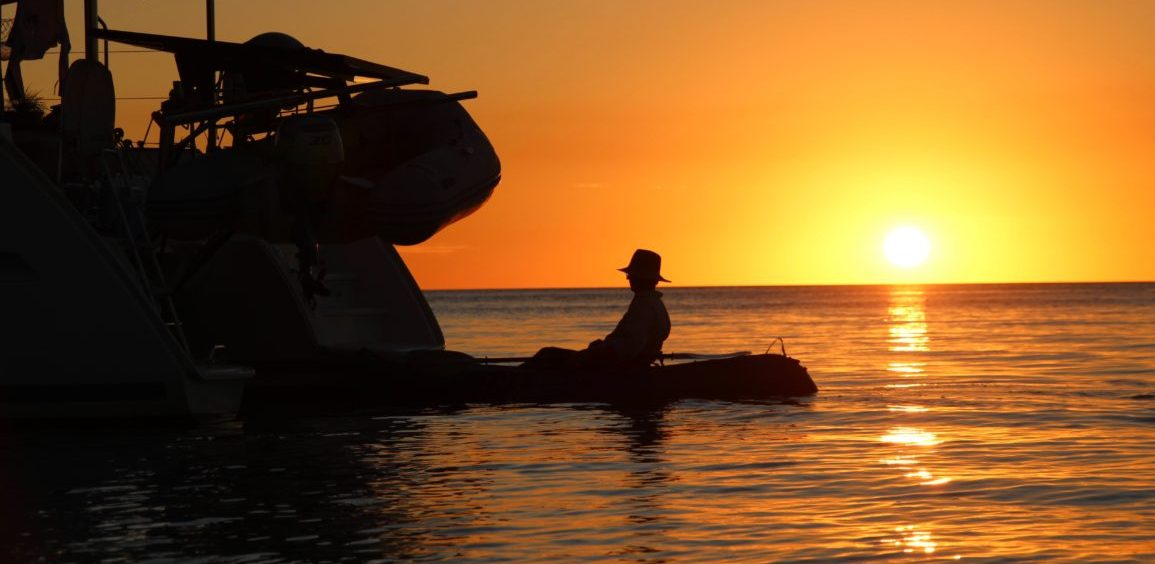 Paddling as the sunsets is always a tranquil experience.