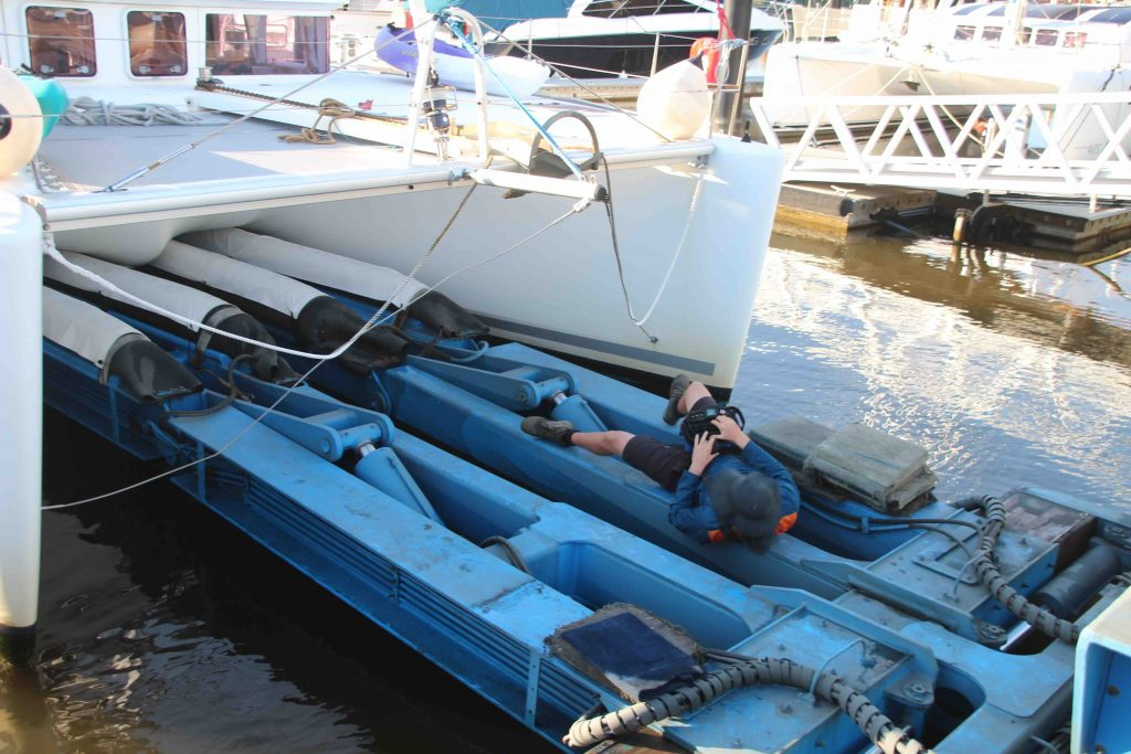 The Boat Works Crew are flat out ensuring everything goes smoothly.