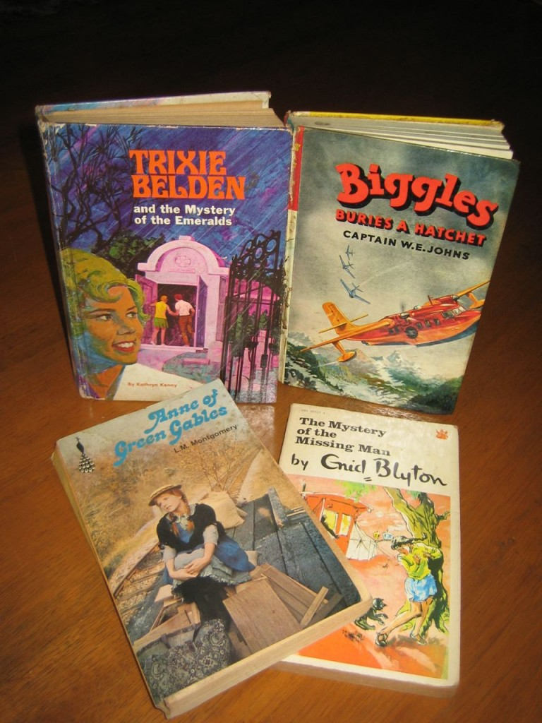 Trixie Bleden, Anne of Green gables, Biggles