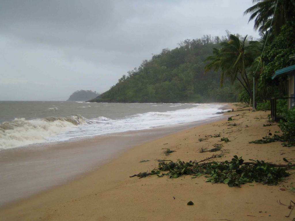 Beach at Trinity after Yasi
